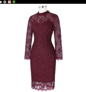 Платье 50-54 новое кружевное  вечернее нарядное