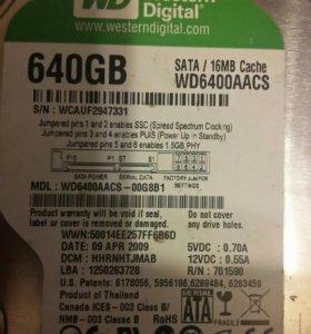 Жеский диск WESTERN DIGITAL 640GB