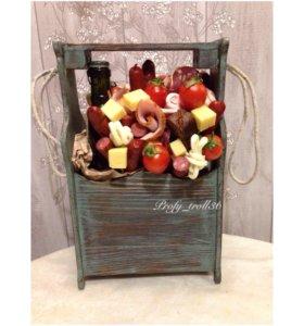 Букеты из овощей и фруктов на заказ