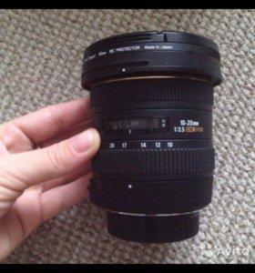 Объектив Sigma 10-20 3.5 для Nikon
