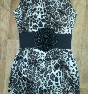 Платье rinascimento италия леопардовое