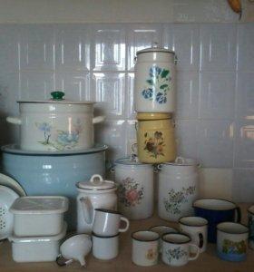 Эмалированная посуда в ассортименте