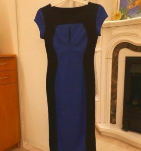 Синее платье - силуэт
