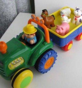 Трактор с животными