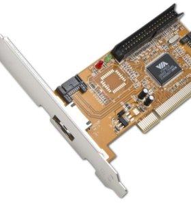 Контроллер Card VIA на IDE и SATA