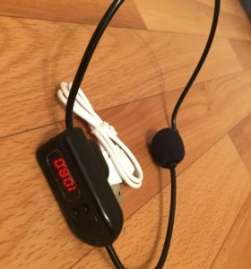 Радио микрофон работает от радио укв