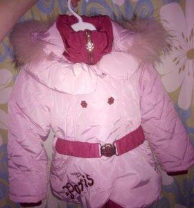 Зимняя куртка для девочки 86р