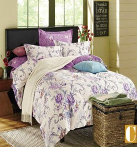 Комплекты постельного белья люкс сатин