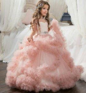 Платье розовое облако, аренда
