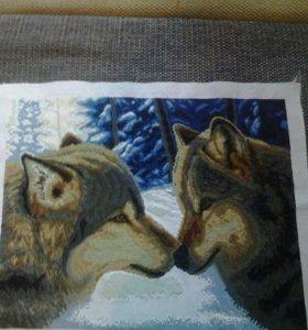 """Картина """"пара волков"""""""