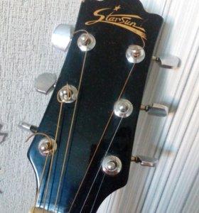 Гитара акустическая +чехол с утиплением