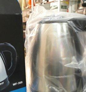 Новый эл чайник в упаковке металлический
