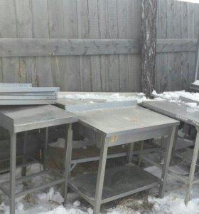 Столы и стеллажи из нержавейки для общепита.