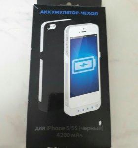 Аккумулятор чехол на IPhone 5/5s