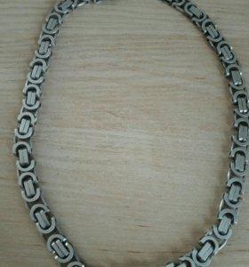 Цепь+ браслет серебро из Италии