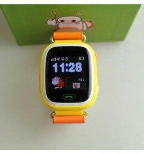 Детские часы smart baby watch Q80 сенсорные