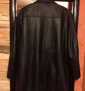 Кожаное пальто-пиджак р.64