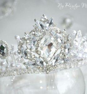 Роскошная королевская диадема для свадьбы