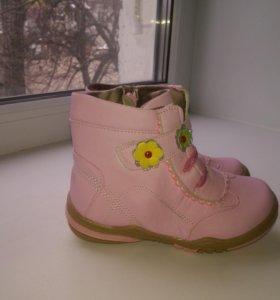 Ботинки новые на флисе 17см и 18см