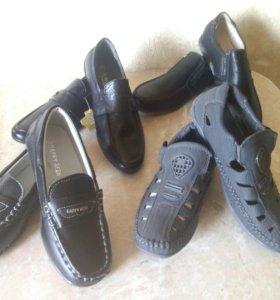 Новые туфли и мокасины 30-35
