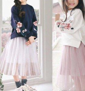 Комплект свитшот и юбка