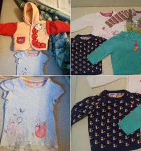 Пакет вещей (21 шт) для девочки на рост 68-80