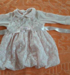 Платье нарядное р. 68-74