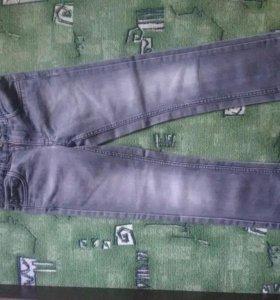 Джинсы для девочки, серые (128) 8лет.