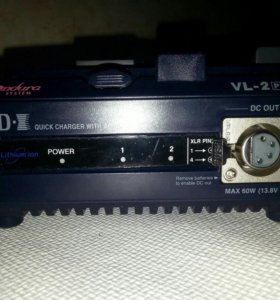 Зарядное устройство и 2 аккумуляторных батареи idx
