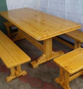 Садовая мебель. Стол с лавками.