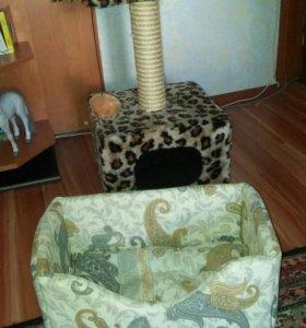 Царапка-Домик для кота и лежанка