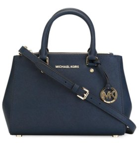 💙 Сумка Michael Kors Sutton синего цвета