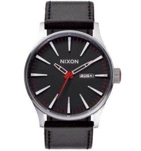 Часы Nixon -Sentry Leather Black, O/S
