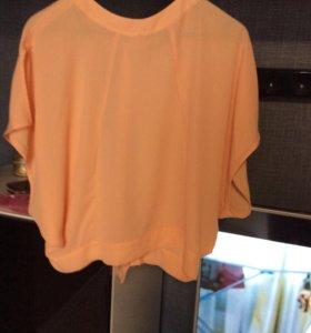 бЛуза новая Mohito персиковый цвет
