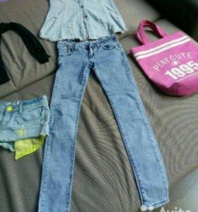 Вещи джинсы шорты юбка
