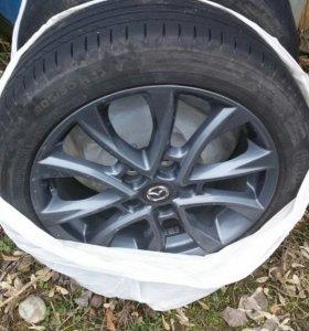 литые диски с шинами на мазду r17
