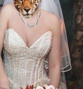 Платье свадебное, фата