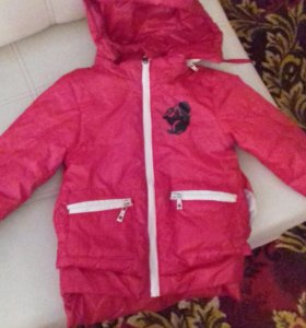 Куртка на евочку 5-6 лет весна