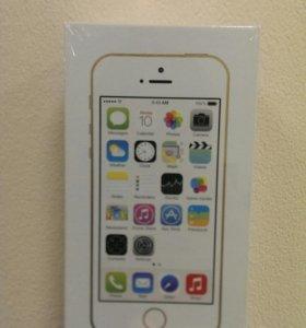 iPhone 5s 16Gb gold стекло и чехол в подарок