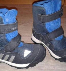 Синие ботинки Adidas