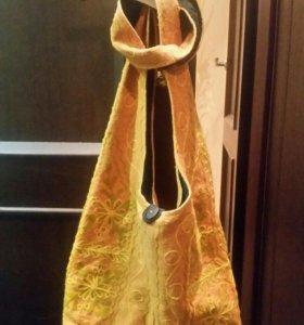 Этническая сумка с вышивкой