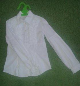 Школьная рубашка блузка 134 размер