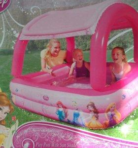 Детский бассейн с козырьком
