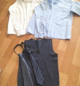 Рубашки,жилет, галстуки