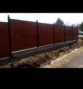 Ставим,забор ,штакетник ,навес ,ворота