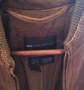 Куртка mango кожаная