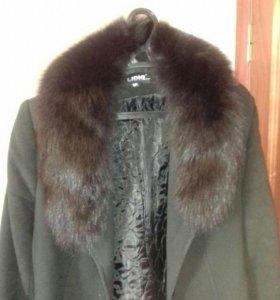 Пальто черное, теплое зимнее