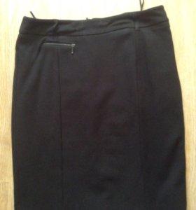 Классическая чёрная юбка Esprit р46