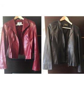 2 Пиджака кожаные