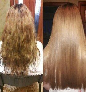 Кератиновое выпрямление волос и ботокс для волос!